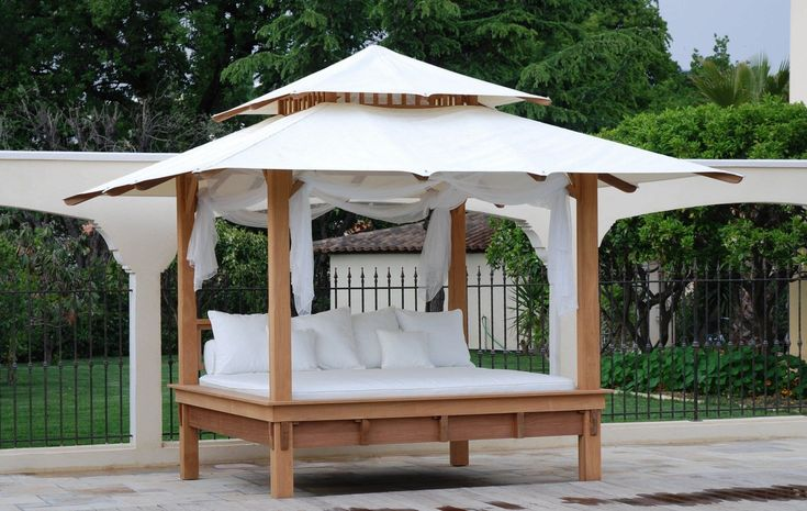 Contemporary outdoor canopy bed - THUNDERBIRD - HONEYMOON
