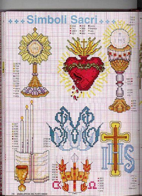 Bästa bilderna om cross stitch religious på