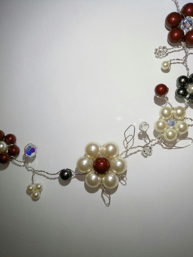 Flower power...swarovsky pearls and silver