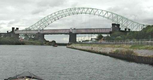 Runcorn and Widnes railway viaduct across the Manchester Ship Canal