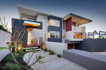 terraced front yard Home Design Photos