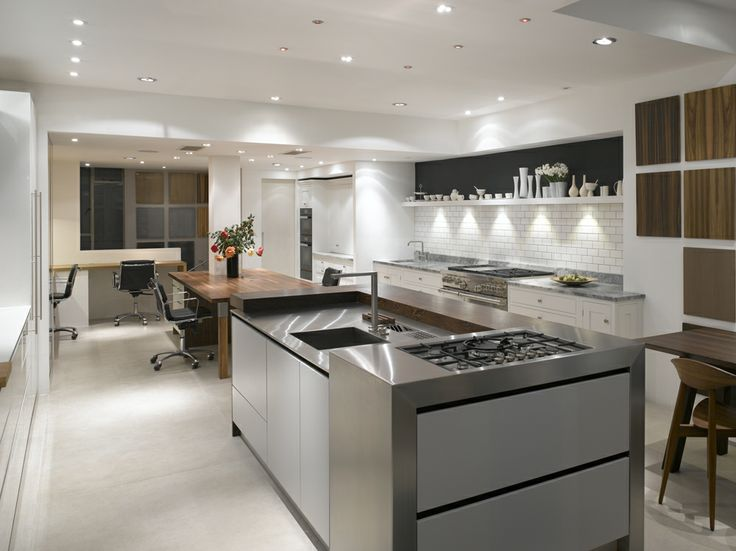 roundhouse fulham showroom featuring urbo island with