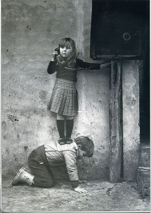 telephone boostFriends, Vintage Photos, White, Children, Helpful Hands, Smart Girls, Vintage Kids, Black, Photography
