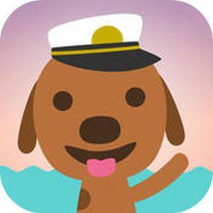 """Eine Bootsfahrt, die ist lustig – vor allen Dingen in einer segelnden Banane mit dem Hund Harvey. Die App """"Sago Mini Boote"""" lässt Kinderherzen höher schlagen mit jeder Menge lustiger Wasserfahrzeuge und Überraschungen. Die Kinderapp ist für iPhone, iPod, iPad und Android-Geräte verfügbar. Sago Mini Boote   Apps für Kinder - myToys"""