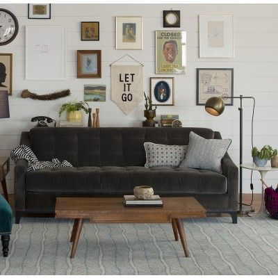 (i like the sofa too). || Miles Floor Lamp | Table + Floor Lamps | Lighting