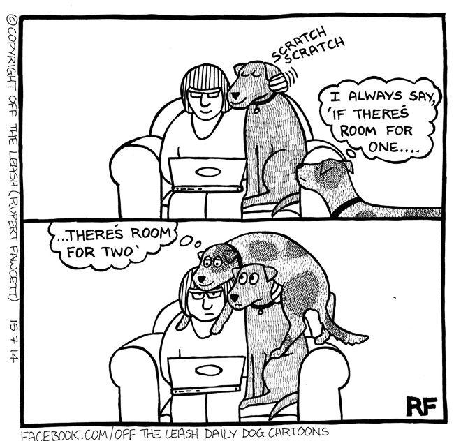 I Always Say - Off The Leash Dog Cartoons by Rupert Fawcett