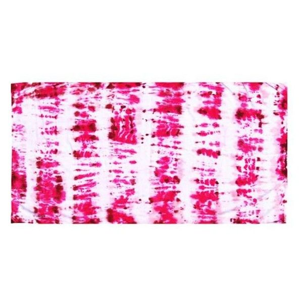 Baja Zen Tie-Dyed Beach Towel (€45) ❤ liked on Polyvore featuring home, bed & bath, bath, beach towels, tie dye beach towel, oversized beach towels and cotton beach towels