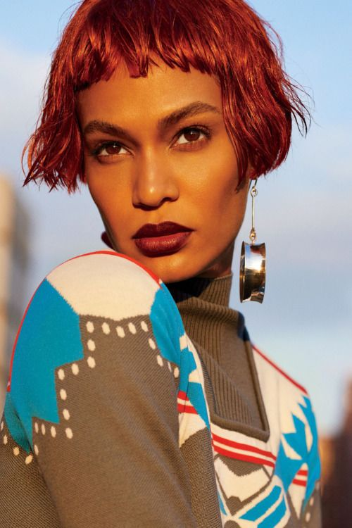 Joan Smalls by Carter Smith for Glamour US, October 2016