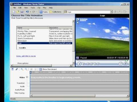 how to use microsoft movie maker windows 7