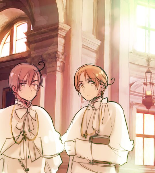 "APH Italy Brothers BLESSED BE YOU HIMA <- oh yeah I saw this on HetaScans I freaked out like ""OMG HIMA I LOVE YOU"""
