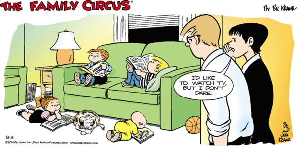 Family Circus Cartoon for Aug/03/2014