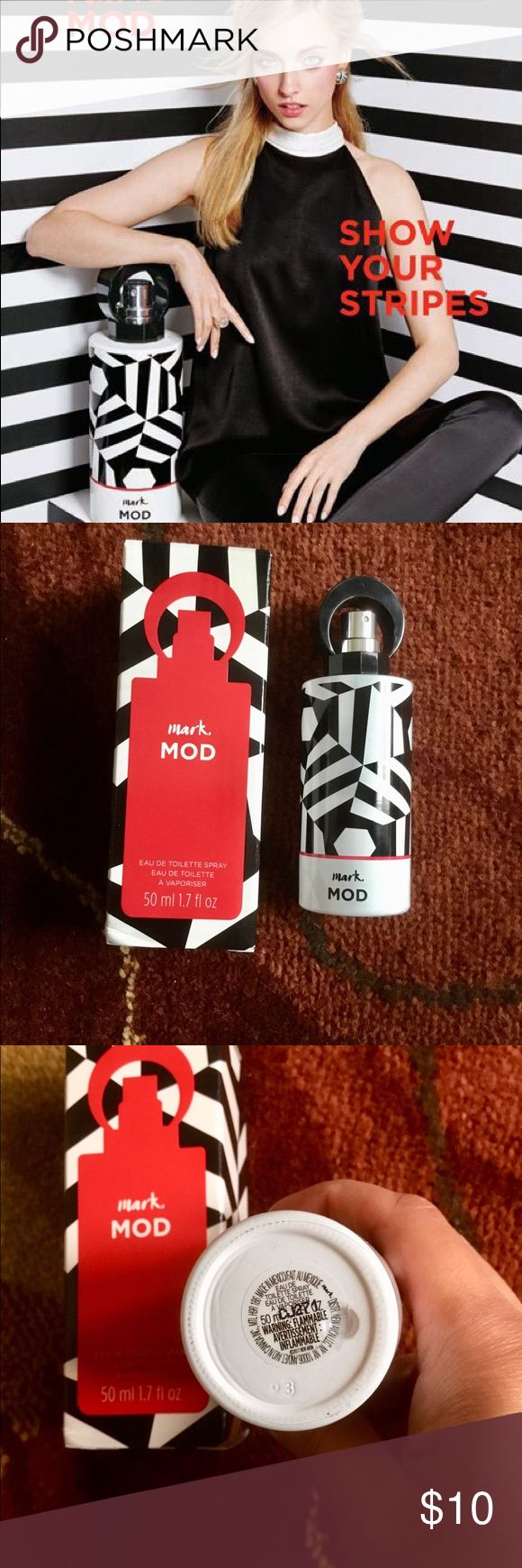 Mark Mod Eau De Toilette 💋 New. Full 50 ml 1.7 fl oz. Soft and lovely scent. London calling! Channel an era of short skirts, extra-long lashes and graphic black-and-white prints with this swinging medley of rose and capucine florals spiked with a spicy nutmeg allure. NOTES • Top Note: swinging medley of rose • Middle Note: capucine florals • Bottom Note: spicy nutmeg allure My home is pets and smoke free. Bundle and save 10%🌷🌞 mark Other
