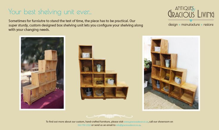 Customisable shelving unit designed and manufactured exclusively by us!