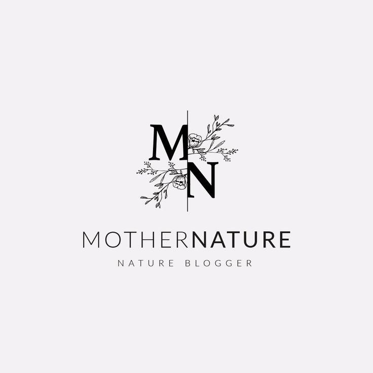 Beautiful feminine logo design with floral monogra…