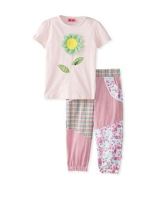 61% OFF Me Too Kid's Tee & Pant Set (Pink)