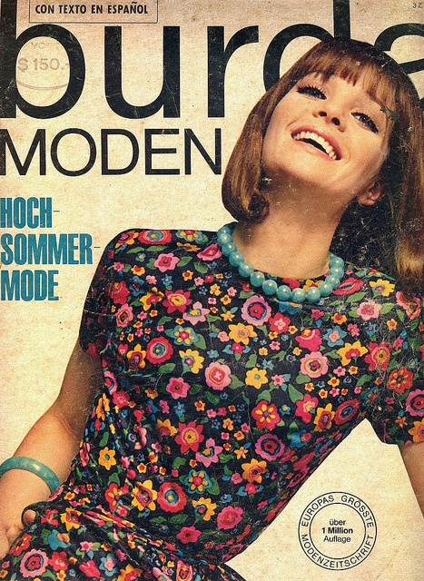Burda-July 1965    German Fashion Magazine:Burda Moden,July 1965.
