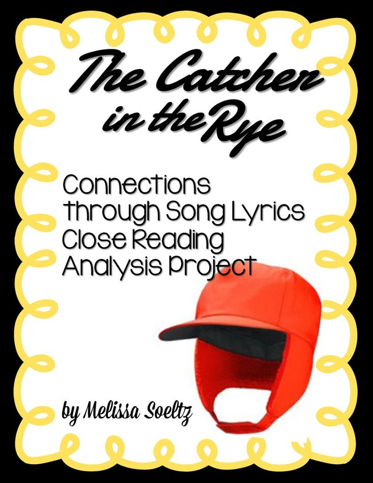 39 best ela character sketch images on pinterest reading catcher in the rye close reading song lyric comparison stopboris Choice Image