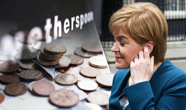 Less than WETHERSPOONS! Sturgeon mocked for SNP spending just £90K on keeping UK in EU