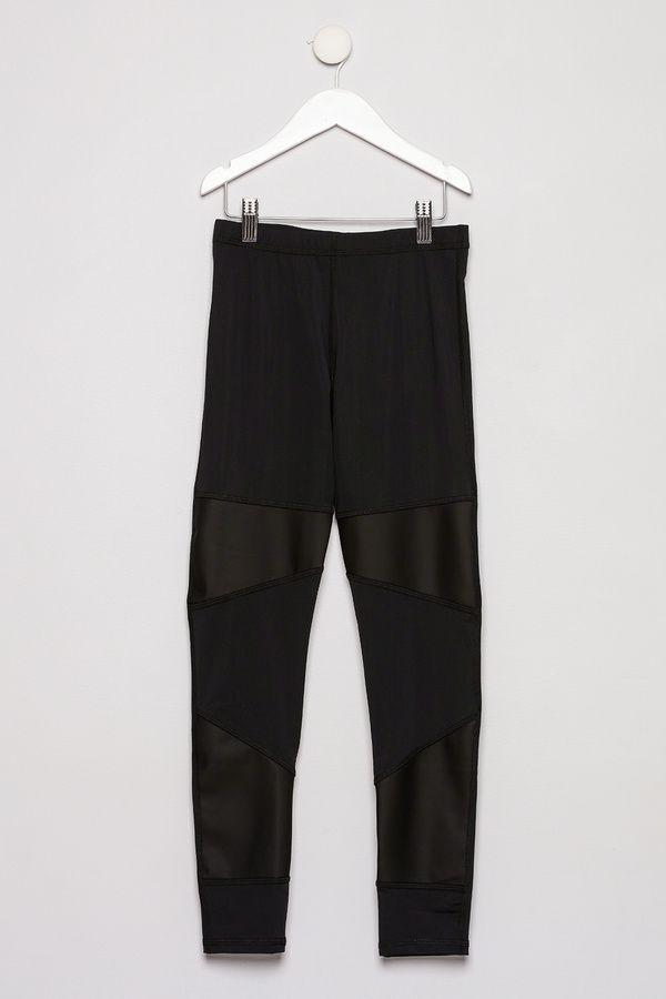 Terez Vegan Leather Panel Leggings
