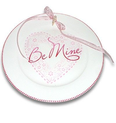 "Valentines ""Be Mine""  Personalized Wedding Proposal Plate by SerendipityCrafts, $50.00"