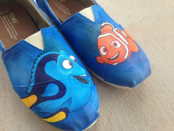 Custom Hand Painted Shoes Finding Nemo by RyTee on Etsy