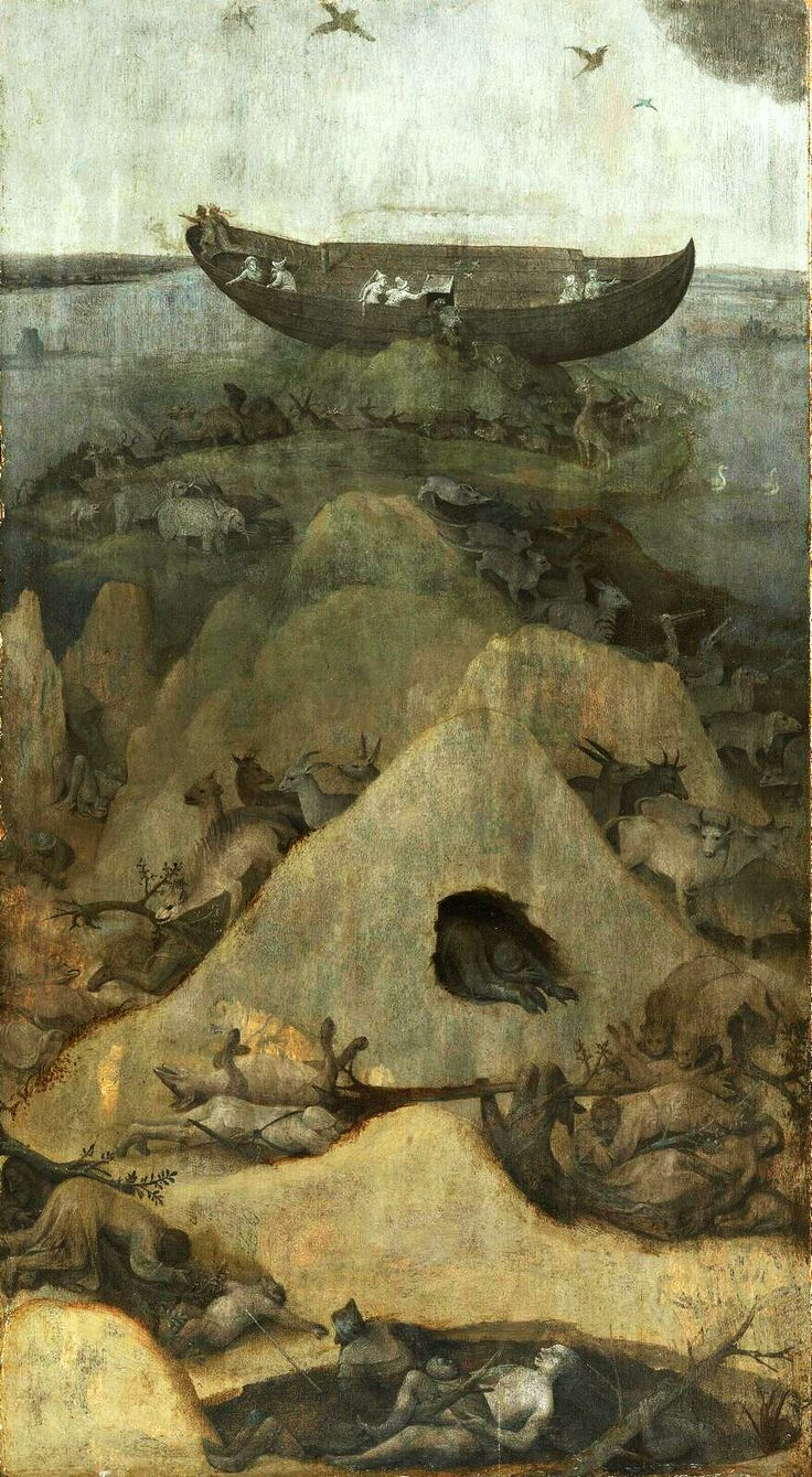 Hieronymus Bosch (1450 - 1516) - The Flood