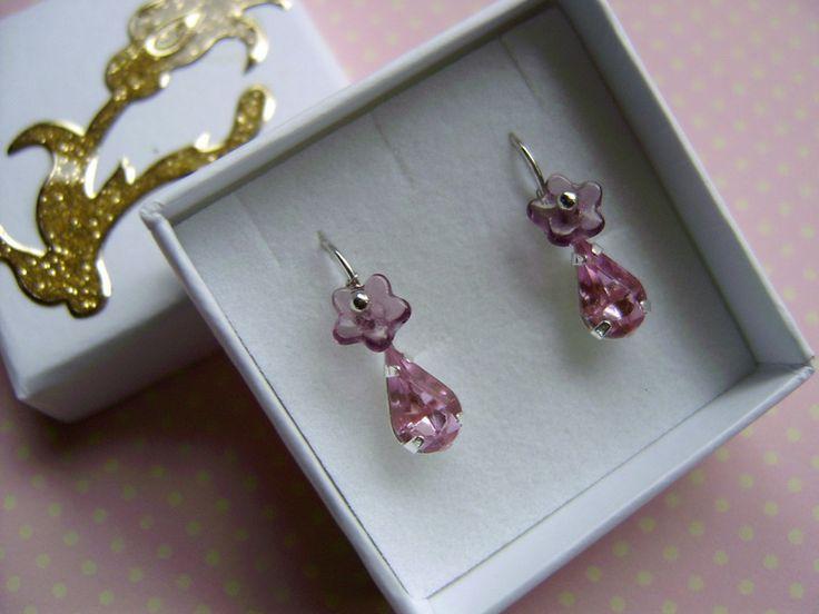 Ohrringe in rosa,Mini Ohrringe,Kinderschmuck von kunstpause auf DaWanda.com