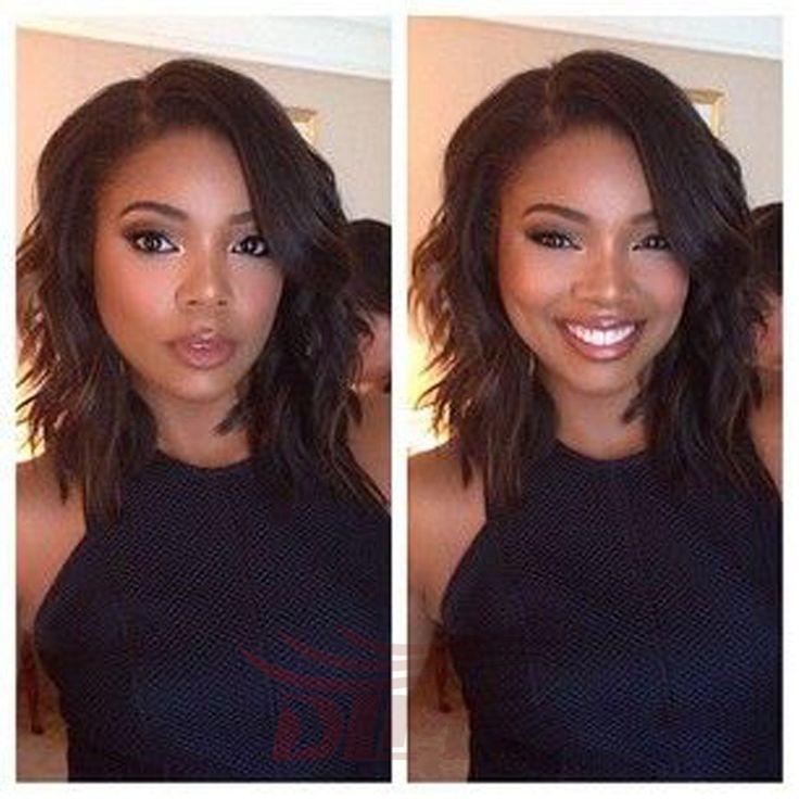 7A Virgin Human Hair Bob Wigs Brazilian Wavy Full Lace Human Hair Wigs Free Parting Short Lace Front Bob Wigs For Black Women