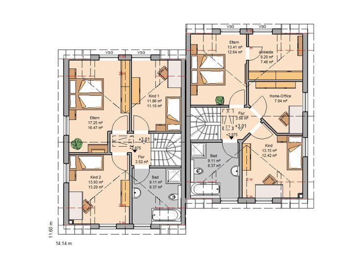 Moderne architektur häuser grundriss  246 besten Haus Pläne Bilder auf Pinterest | Grundrisse ...