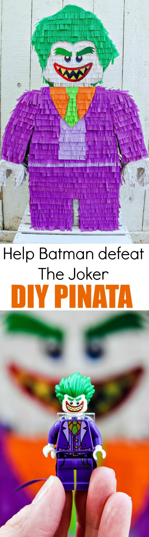 Help LEGO Batman defeat The Joker with this DIY Pinata inspired by The LEGO Batman Movie In theaters 2/10 #LEGOBatmanMovie AD (Cake Boy Lego)