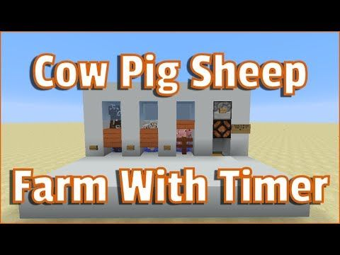 Minecraft Tutorial Cow Pig And Sheep Farm 1 12 With Breeding Timer Youtube Minecraft Minecraft Tutorial Minecraft Blueprints