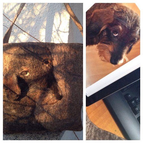 Сумка с собакой   необычная авторская  сумка сумка от MariaAgafos