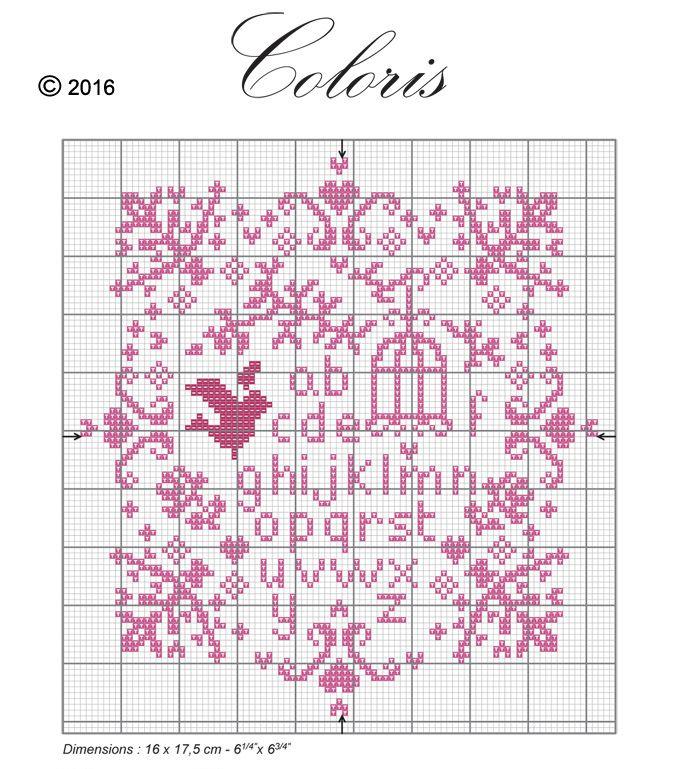 Téléchargez le diagramme abécédaire printanier à broder avec le fil COLORIS en cliquant sur l'image