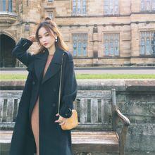 [Uang] Mrs. CHINSTUDIO Dongkuan versi Korea baru tipis jaket wol Gadis paragraf panjang mantel