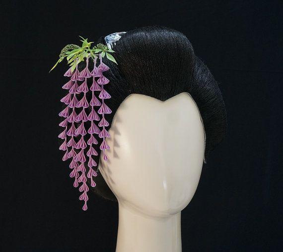 Purple Fuji Wisteria Tsumami Kanzashi The Asian
