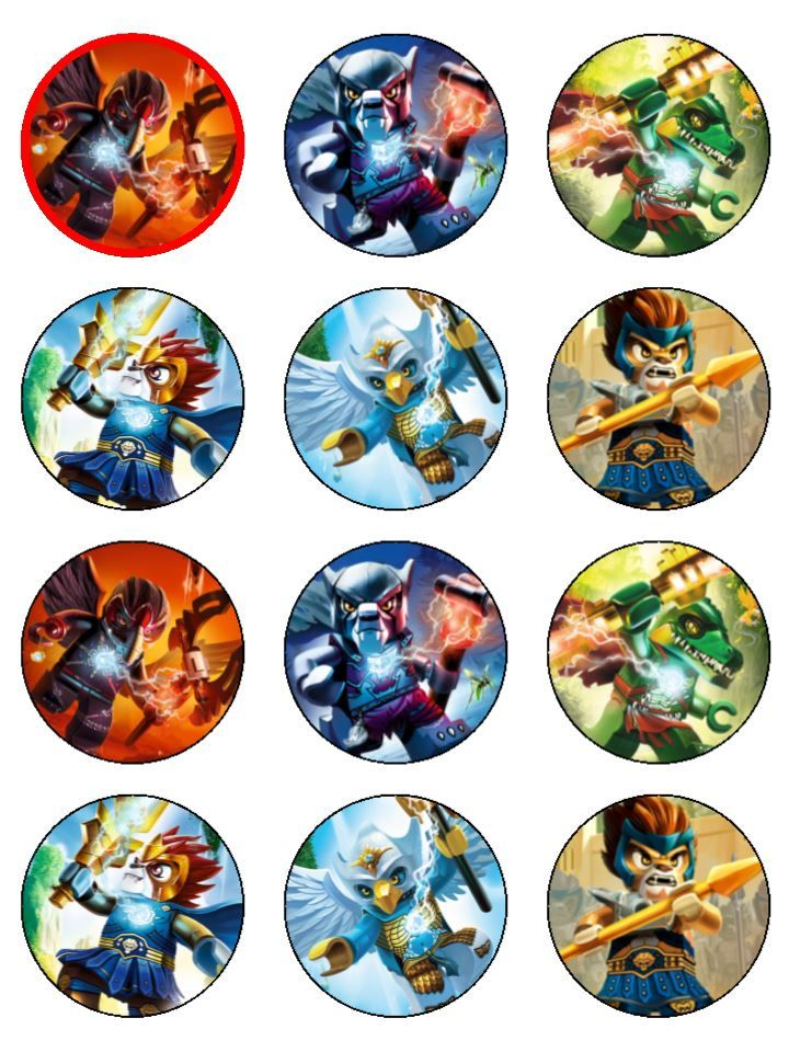 Lego chima cupcake toppers rings do it yourself