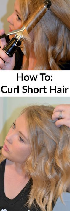 How to Curl Short Hair- This tutorial is simple and easy to follow