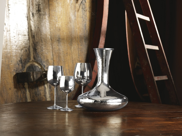 Decanter and Glass for White Wine