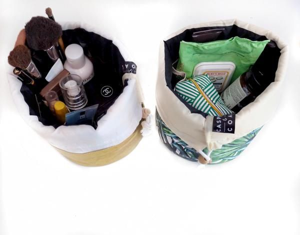 Signature Bucket Travel Cosmetic Bags - Banana Leaf Edition