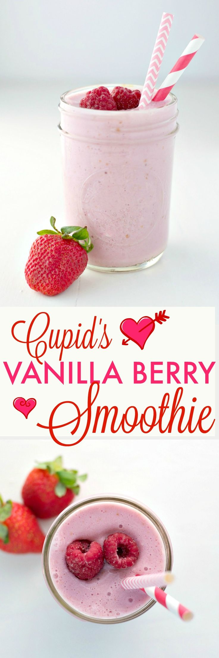 Start your day with Cupid's Vanilla Berry Smoothie! It's a two-minute breakfast solution that will help your family lead an active and healthy lifestyle...and it's 100% kid-approved! @HorizonOrganic #ad #HorizonRecipes