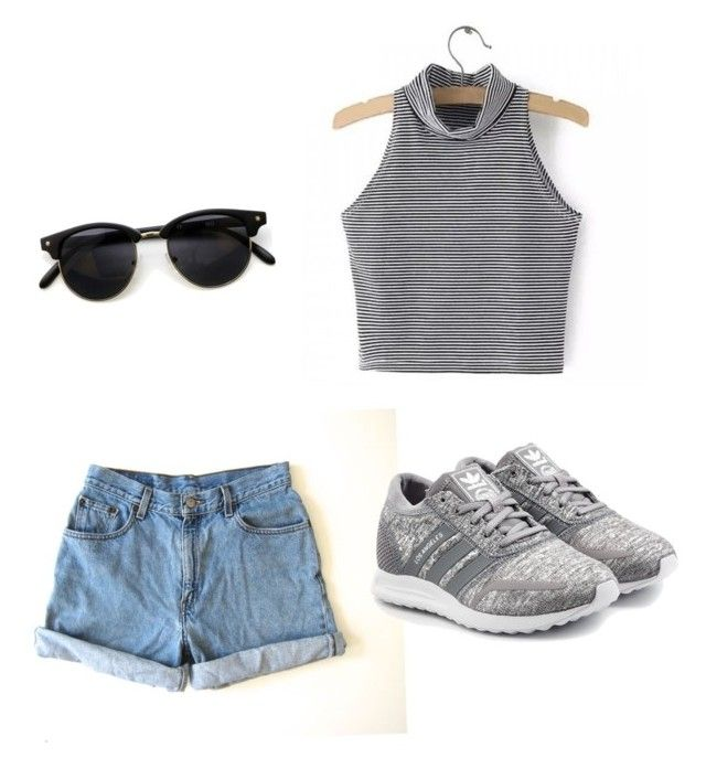 """#summeroutfit#lovelycombinaton#Adidasforever"" by carla-ana-maria on Polyvore featuring Levi's and adidas Originals"