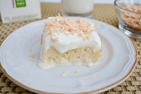 Tres Leches Cake  Ingredients    Cake  1 ½ cups all-purpose flour  1 teaspoon baking powder  ½ cup unsalted butter, left at room temperature for an hour and cubed  1 cup white sugar  5 eggs  1/2 teaspoon vanilla extract  Filling  1 cup whole milk  1 (300ml) can sweetened condensed milk  1 (370ml) evaporated milk  Topping  1 ½ cups heavy whipping cream  1 cup white sugar  1 teaspoon vanilla extract