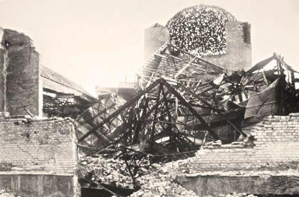 Разрушенное здание, 1945 г