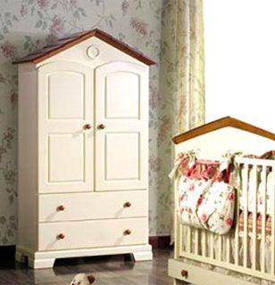 Шкаф детский Natart Robin, цвет слоновая кость/орех (детская мебель Натарт Робин 3539/44)
