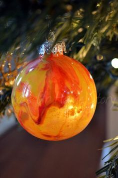 Whats Ur Home Story: Painted Clear Glass Ornament, Painted Clear Ornaments