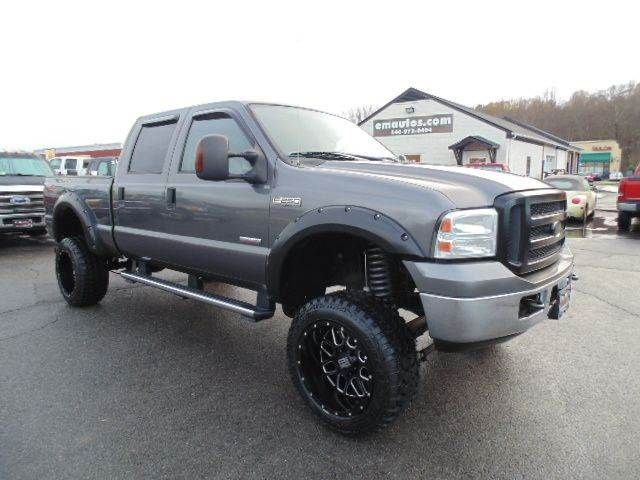 www emautos com one owner just lifted 2005 ford f 250 super duty lariat crew cab 4x4 short bed. Black Bedroom Furniture Sets. Home Design Ideas