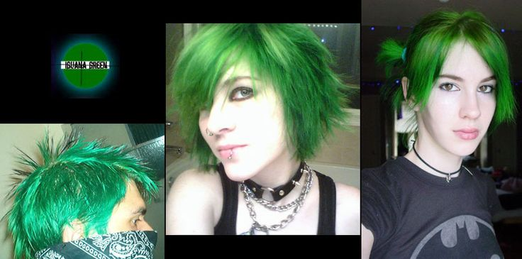 Iguana Green Semi Permanent Hair Dye By Special Effects Accessories Pinterest