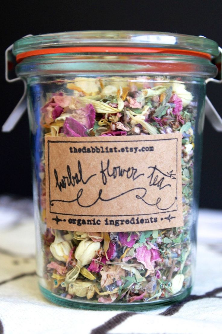 "Fragrant ""Herbal Flower Tea,"" formerly available at thedabblist.etsy.com.  So pretty ..."