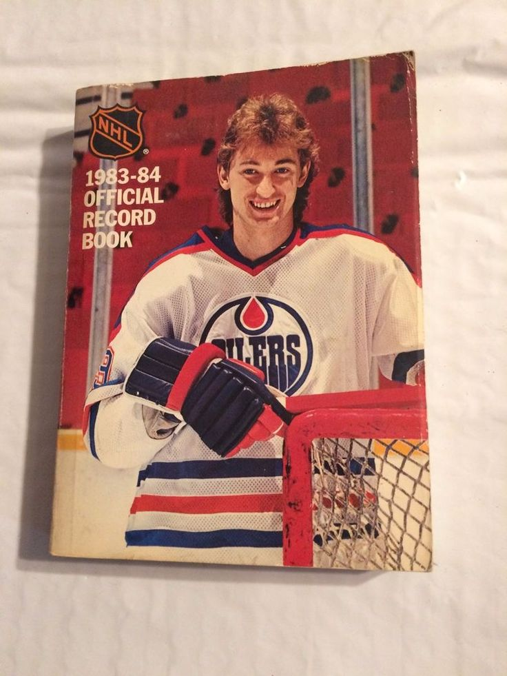 1983-84 Official NHL Record Book, Wayne Gretzky Edmonton Oilers on Cover