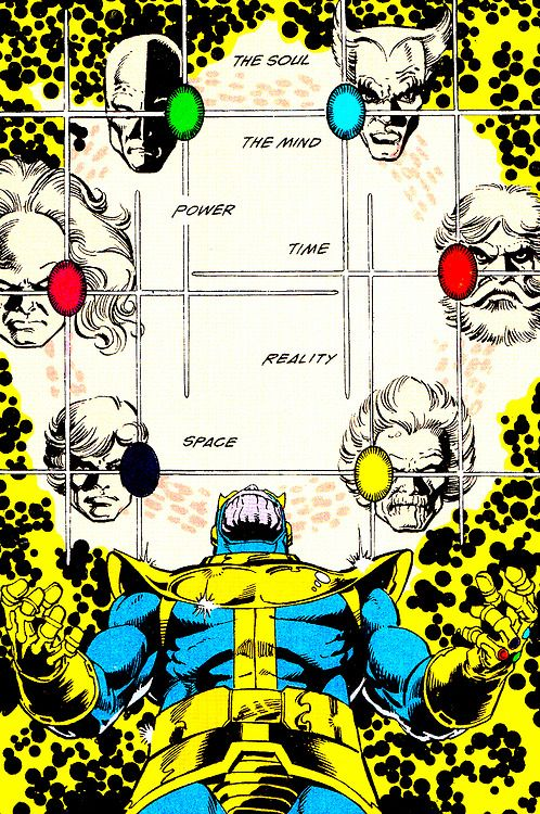 The Infinity Gems in The Infinity Gauntlet #1 (July 1991) -George Perez & Josef Rubinstein